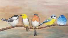 SONGBIRDS Acrylic Painting Tutorial LIVE How to Paint BIRDS