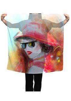 AlenaLazareva Scarf Fashion beautiful woman autumn abstract - JVGBD®