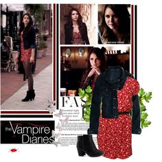 Red dress&booties