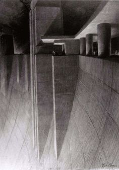 Crest of Boulder - Hoover Dam Hugh Ferriss The Power in Buildings Series Charcoal on tracing paper on board Source/Credits The Hugh Ferriss Architectural Drawings and Papers Collection Architecture Drawings, Architecture Design, Architecture Graphics, Concept Architecture, Futuristic Architecture, 3d Art, Architect Drawing, Building Sketch, Create Drawing