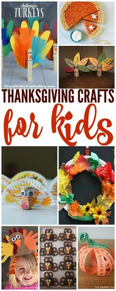 Thanksgiving Craft Ideas for Kids! FUN DIY ideas that are super easy!