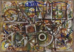 Auspicious Vision: Edward Wales Root and American Modernism:  Richard Pousette Dart (1916-92) Composition (Transfiguring), 1946 Opaque and transparent watercolor with ink and chalk on heavy rag paper 22 1/2 x 31 in. Edward W. Root Bequest, 57.210