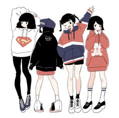 Find images and videos about girl, cute and art on We Heart It - the app to get lost in what you love. Anime Kunst, Art Anime, Illustration Mode, Character Illustration, Kawaii, Chibi, Drawn Art, Dibujos Cute, Anime Outfits