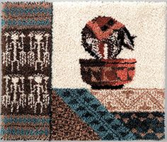Indian Artistry Latch Hook Rug Kit Latch Hook Rug Kits