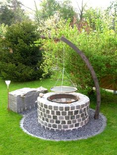 26 Latest Barbecue In The Garden Build Your Own Ideas Check more at www. , 26 Latest Barbecue In The Garden Build Your Own Ideas Check more at www. Backyard Trampoline, Fire Pit Backyard, Backyard Seating, Backyard Landscaping, Backyard Ideas, Firepit Ideas, Landscaping Ideas, Fireplace Garden, Country Fireplace