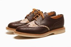 """Mark McNairy """"Chocolate"""" Country Brogue Shoes: The latest footwear iteration from designer Mark McNairy arrives in the form of a """"Chocolate"""" Boat Shoes, Men's Shoes, Shoe Boots, Dress Shoes, Slip On Sneakers, Casual Sneakers, Top Shoes For Men, Mens Training Shoes, Shoe Sites"""