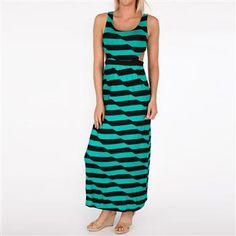 Striped Maxi Dress Side Cut Outs  #maxidress #stripes #cutouts #dress #soprano #drygoods