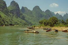 Life along the Lijiang River, near Guilin, Guanxi, China (6) by Yvon from Ottawa, via Flickr