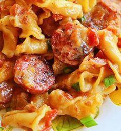 Spicy Sausage Pasta   -   http://www.kevinandamanda.com/recipes/dinner/spicy-sausage-pasta.html#_a5y_p=668423