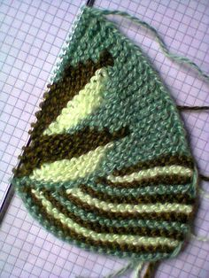 knit slippers short row leaves part a
