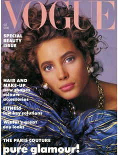Christy Turlington by Patrick Demarchelier Vogue UK October 1986