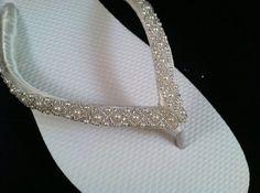 1aea08349c606b Emma Bridal Flip Flops - Custom Flip Flops - Dancing Shoes - Beaded Bridal  Sandals - Wedding Flip Flops - Beach Wedding Bridal Shoes