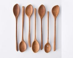 One of a Kind Hand Carved Wooden Spoon / Edition 8 by lessandmore