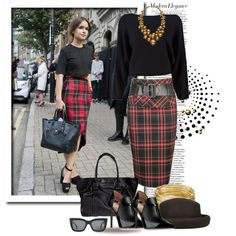 """Plaid is Rad at LFW"" by elegancerules on Polyvore"