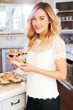 Lauren Conrad in her holiday collection