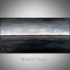 ABSTRACT Painting Black Red White Contemporary Art by benwill, $360.00