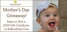 Mother's Day is here and Balboa Baby decided to celebrate with a Mother's Day Giveaway! Enter to win a $200 Gift Card to BalboaBaby.com. One lucky Balboa Baby momma will get to pick $200 worth product of their choice available now in our super adorable NEW prints for spring.  Share, like & enter on our www.facebook.com/BalboaBaby !