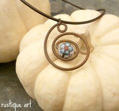 Rustic Folk Wire Pendant Necklace with Vintage by rustiqueart, $13.00