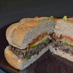 Quinoa Black Bean Burgers were Monday evening dinner with sweet potato fries. Delicious! We served ours on whole wheat sandwich thins for a pretty low calorie, low fat, high protein veggie burger. Two thumbs up!