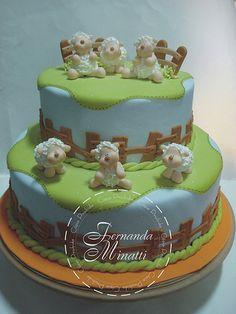 Mais um bolo!! Ovelhinhas