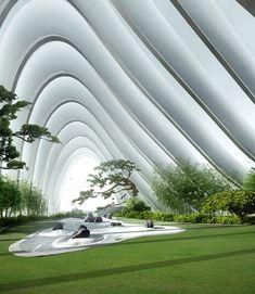 MAD architects ~ venice installation, masterplan for city of Nanjing, undulating Chinese mountain inspiration