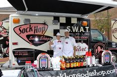 Sock Hop Soda Shop, a mobile 1950s-style diner, is delivering root beer floats and chili dogs and is holding Hula-Hoop and dance competitions.