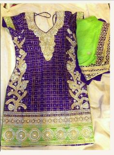 Fabulous embroidery on punjabi suit