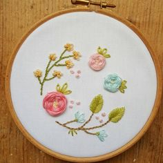 New floral garden. These are lots of fun to do ❤#embroidery #needlework #stitching #spring #etsyshop #hoopart