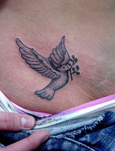 Peace Dove Tattoo Love shading and color