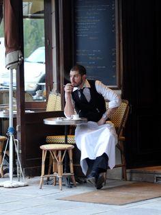 Parisian waiter taking a breather by Neil Piercy, via 500px