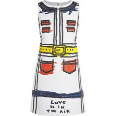 Alice + Olivia Love Is In The Air jacquard mini dress, White, Women's,... (1.115 BRL) ❤ liked on Polyvore featuring dresses, vestidos, white jacquard dress, short white dresses, woven dress, white dress and white mini dress