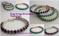 Kiss Kross Bracelet Tutorial  Instant download por Abbyjewellery, $6.50