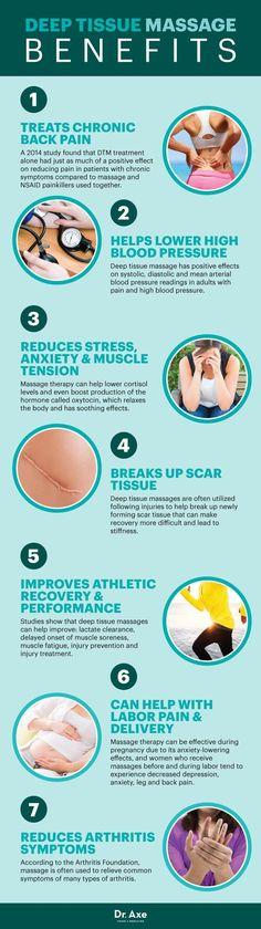 Deep tissue massage benefits - Dr. Axe http://www.draxe.com #health #holistic #natural