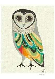 Pretty owl print! Kristina Sostarko + Jason Odd