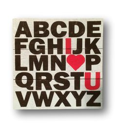 ABC I love you Up-cycled sign