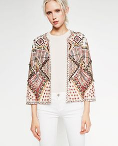 Image 3 of EMBROIDERED JACKET from Zara