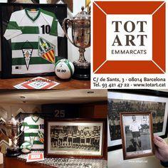 marcos para objetos fotos y camisetas de fútbol en Barcelona Totart, carrer de sants, 3 08014  www.totart.cat #enmarcar #camisetas #futbol #barcelona