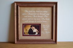Parent Wedding Gift   Wedding Gift for parents  by framedaeon