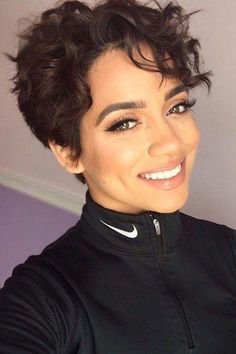 Curly-Pixie-Cut Hairstyles for Short Curly HairYou can find Curly pixie and more on our website.Curly-Pixie-Cut Hairstyles for Short Curly Hair Short Curly Pixie, Short Curly Hairstyles For Women, Haircuts For Curly Hair, Short Hair Cuts, Easy Hairstyles, Pixie Cut Curly Hair, Short Perm, Curled Pixie, Perm Hairstyles