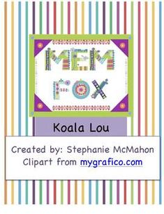 FREE- Koala Lou by Mem Fox lesson plan pack. This includes a book introduction… Retelling Activities, Fun Classroom Activities, Book Activities, Classroom Setup, Teaching Language Arts, Author Studies, Book Study, Readers Workshop, Children's Literature