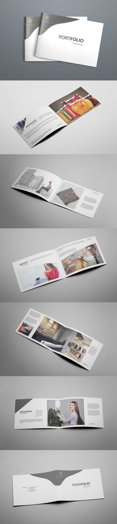 Brochure Template InDesign INDD - 12 Pages, A4 Size and US Letter
