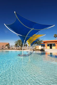 Gallery of Sunami, Sunbird, Sunbow, and Eclipse Tensile Shade Structures and Sculptures - TENSILE SHADE PRODUCTS, LLC