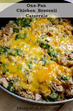 I wanted to share this one-pan recipe with you all because I just love it! I love one-pan recipes because you literally use one pan whole time you prepare this dish. How amazing is that? Pretty amazing if I say so myself. I also love casserole recipes as well. They are super easy to prepare. They also last my family a couple of days. Which means leftover. Which is kind of nice sometimes for the chef. First of all this dish has rice, chicken, cheese and broccoli.
