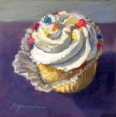 """Last Cupcake"" - Original Fine Art for Sale - © Diane Mannion"