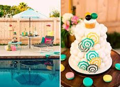 Image result for pool party table centerpieces