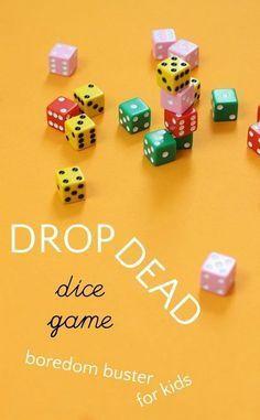 Drop Dead is a fun dice game for kids that uses math skills. Drop Dead is a fun dice game for kids that uses math skills. Activity Games, Math Games, Activities For Kids, Maths, Therapy Activities, Articulation Activities, Group Activities, Indoor Activities, Multiplication Dice Games