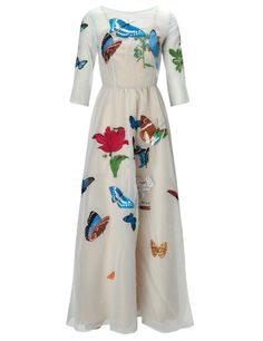 Blue Embroidered Butterfly Dress | Vivetta | Avenue32
