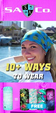 Designs and Ways to Wear. Protect Your Hair and Face from Sun, Cold, Dust, & Allergens. Made of UPF 40 Microfiber. All Face Shields come with a Lifetime Warranty! Join the SA Team Today! Fabric Crafts, Sewing Crafts, Tissue Paper Flowers, Craft Free, Diy Hair Accessories, How To Wear Scarves, Plus Size Swimwear, Buy 1, Diy Gifts