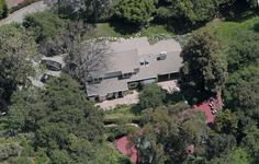Taylor's LA house looking down from Summit Ridge Dr.