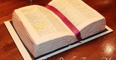 That Really Frosts Me: Sunday School Bible Cake Tutorial Cupcakes, Cupcake Cakes, Open Book Cakes, Comunion Cakes, Christian Cakes, Bible Cake, Religious Cakes, Cake Templates, Cake Decorating Tutorials